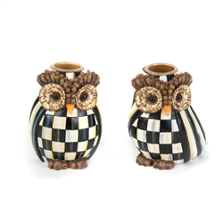 Mackenzie-Childs owl Candlesticks - Set of 2