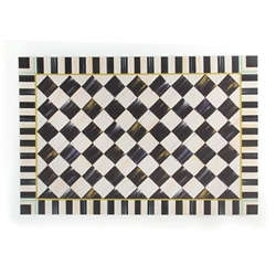 MacKenzie-Childs Courtly Check Vinyl Floor Mat - 2 Ft. X 3 Ft.