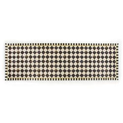 MacKenzie-Childs Courtly Check Vinyl Floor Mat - 2 Ft. 6 in. X 8 Ft. Runner