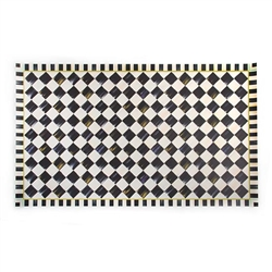 MacKenzie-Childs Courtly Check Vinyl  Floor Mat - 3 Ft. X 5 Ft.