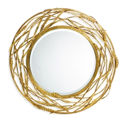 Michael Aram Wheat Hanging Wall Mirror