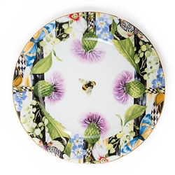 MacKenzie-Childs Thistle & Bee Porcelain Charger