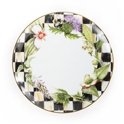 MacKenzie-Childs Thistle & Bee Garland Porcelain Dinner Plate