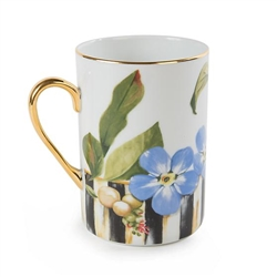MacKenzie-Childs Thistle & Bee Porcelain Mug