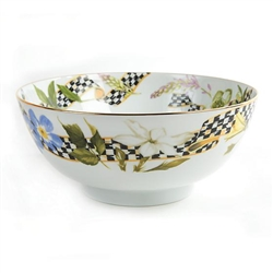 MacKenzie-Childs Thistle & Bee Porcelain Serving Bowl