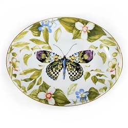 MacKenzie-Childs Thistle & Bee Porcelain Serving Platter