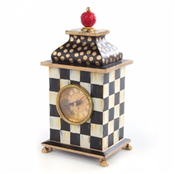 MacKenzie-Childs Courtly Check Desk Clock