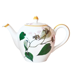 Bernardaud Limoges Jardin Indien Tea Pot Boule Shape