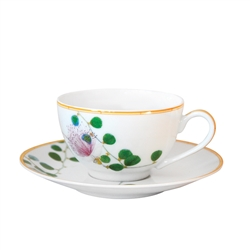 Bernardaud Limoges Jardin Indien Tea Saucer Boule Shape Only