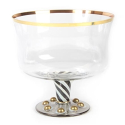 MacKenzie-Childs Mouth-Blown Tango Hand-Painted Trifle Bowl