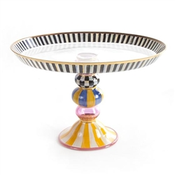 MacKenzie-Childs Striped Awning Cake Stand