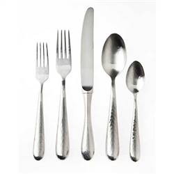 Ricci Argentieri Florence Satin Hammered 20-Piece Place Set