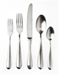 Ricci Argentieri Florence Polished Hammered 5-Piece Hostess Set
