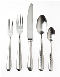 Ricci Argentieri Florence Polished Hammered 20-Piece Service for 4