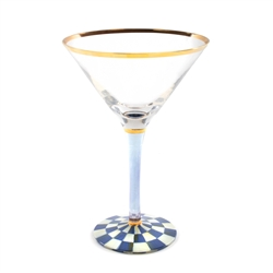 Mackenzie-Childs Royal Check Martini Glass