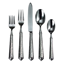 Ricci Argentieri Leopardo Stainless 5-Piece Flatware Service for One