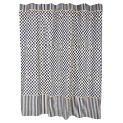 MacKenzie-Childs Courtly Check Shower Curtain