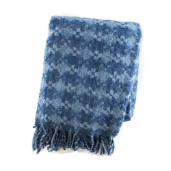 Mackenzie-Childs Bluetopia Houndstooth Throw