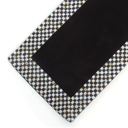 MacKenzie-Childs Courtly Check Table Runner - Black