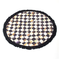 MacKenzie-Childs Courtly Check Round Ruffle Placemat