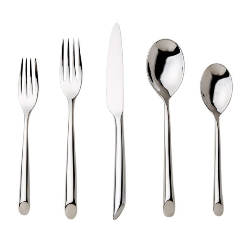 Nambe Flatware - Frond - 5 Piece Place Set