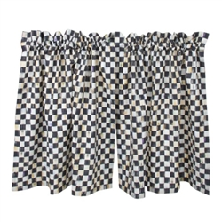 MacKenzie-Childs Courtly Check Cafe Curtains Set of 2
