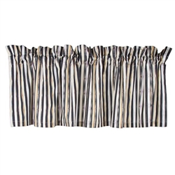 MacKenzie-Childs Courtly Check Cafe Tab Top Cafe Valance