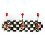 MacKenzie-Childs Courtly Check Triple Enamel Hook