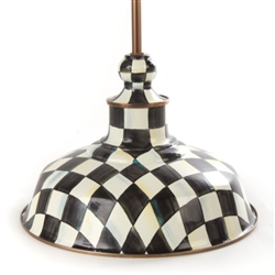 MacKenzie-Childs Courtly Check Barn Pendant Lamp - 12""