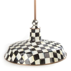 MacKenzie-Childs Courtly Check Barn Pendant Lamp - 18""