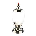 Mackenzie-Childs Courtly Check Enamel Beverage Hostess
