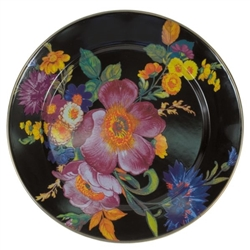MacKenzie-Childs Flower Market Charger Black
