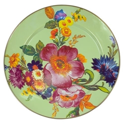 MacKenzie-Childs Flower Market Charger Green