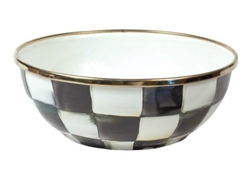 MacKenzie-Childs Enamelware Courtly Check Everyday Bowl