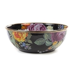 MacKenzie-Childs Flower Market Everyday Bowl Black