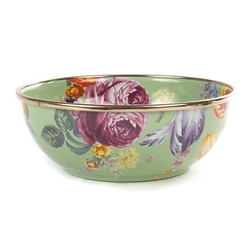 MacKenzie-Childs Flower Market Everyday Bowl Green