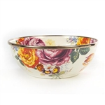 MacKenzie-Childs Flower Market Enamel Breakfast Bowl White