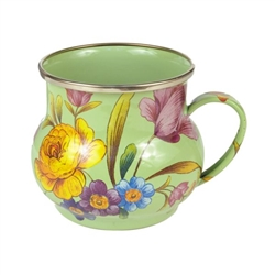 Mackenzie-Childs Flower Market Mug Green