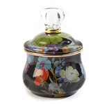 MacKenzie-Childs Flower Market Lidded Sugar Bowl - Black