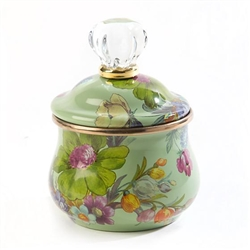MacKenzie-Childs Flower Market Lidded Sugar Bowl - Green