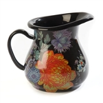 MacKenzie-Childs Flower Market Creamer - Black
