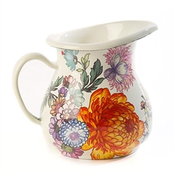 MacKenzie-Childs Flower Market Creamer - White