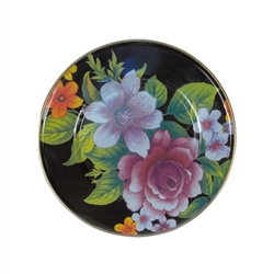 Mackenzie-Childs Flower Market Lunch/Salad Plate Black