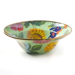 Mackenzie-Childs Flower Market Serving Bowl Green