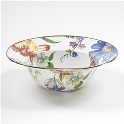 Mackenzie-Childs Flower Market Serving Bowl White