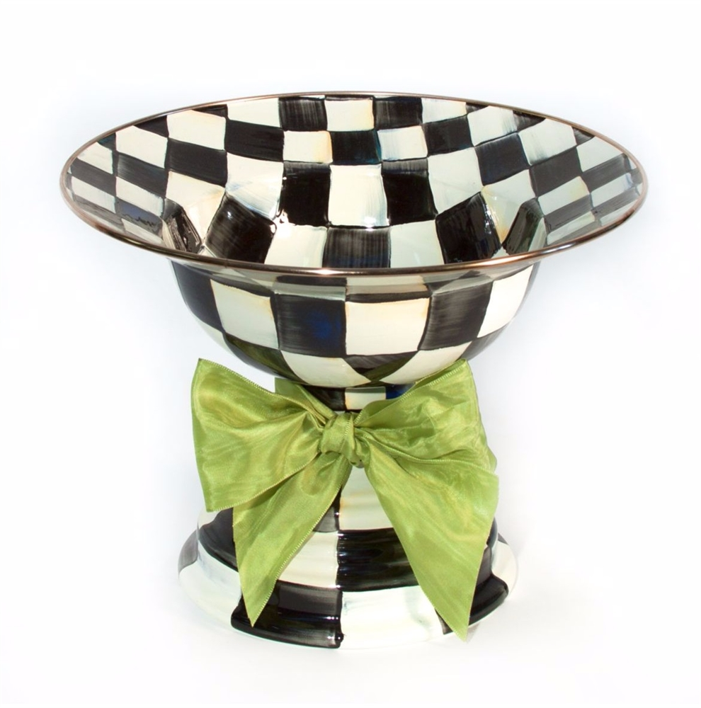 MacKenzie-Childs Courtly Check Compote Large