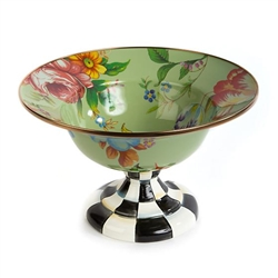 MacKenzie-Childs Flower Market Enamel Compote Large - Green