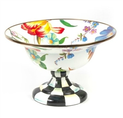 MacKenzie-Childs Flower Market Enamel Compote Large