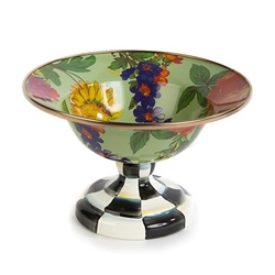 MacKenzie-Childs Flower Market Enamel Small Compote - Green