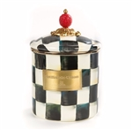 MacKenzie-Childs Enamelware Courtly Check Small Canister